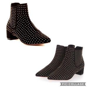 """Topshop """"Killer"""" Studded Black Suede Ankle Boots"""